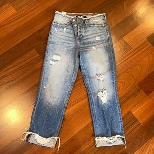 Express straight ankle Jean high waist sz 0